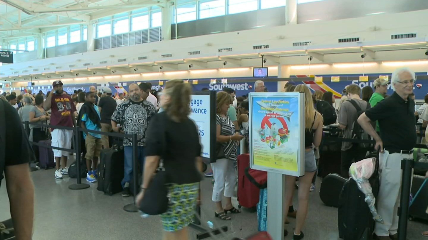 Some Southwest flights were cancelled Thursday morning. (WFSB)