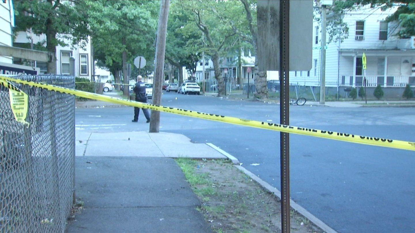 A 59-year-old woman was hit by gunfire after someone fire at her window in New Haven. (WFSB photo)