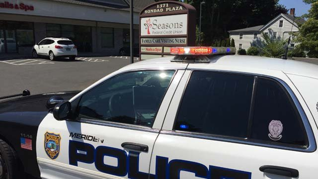 A suspect robbed the Seasons Federal Credit Union in Meriden Thursday morning. (WFSB photo)