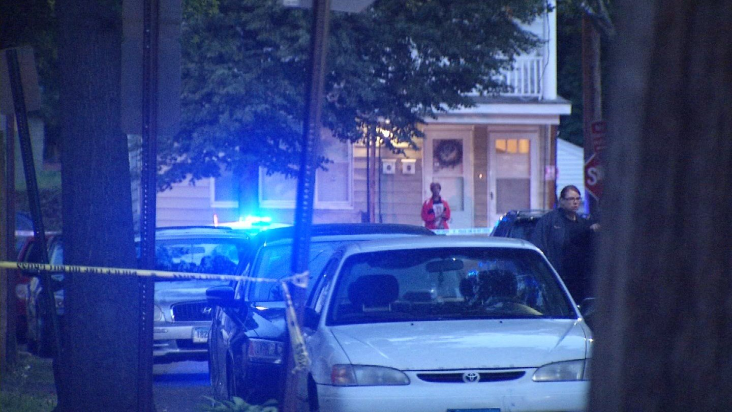 Police said they are looking for as many as three suspects after a woman was inadvertently shot on Shelton Avenue. (WFSB photo)