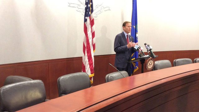 U.S. Sen Richard Blumenthal said he thinks a lot is at stake regarding possible merger of two large insurance companies.  (WFSB)