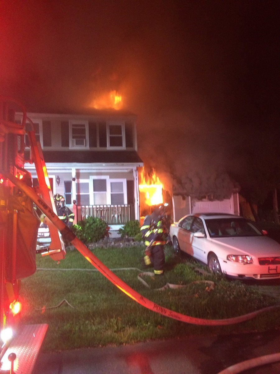 Ark Road house fire in Branford. (Courtesy of Brad Young)