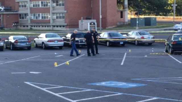 Police responded to a shooting in New Britain Sunday morning. (WFSB)