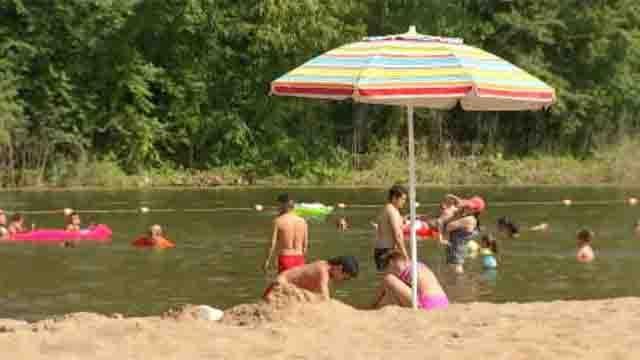 People beat the heat at Wadsworth Falls park on Sunday. (WFSB)