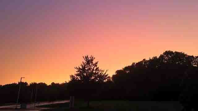 The sky after the storms passed through Rocky Hill on Monday. (WFSB)