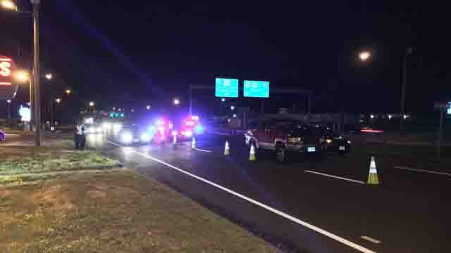 A person was hit by a car on Route 15 south in Wethersfield on Monday night. (WFSB)