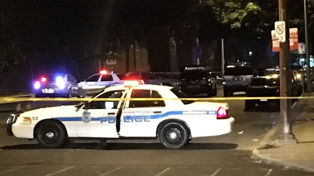 A  man was shot on Marshall Street in Hartford early Tuesday morning. (WFSB)