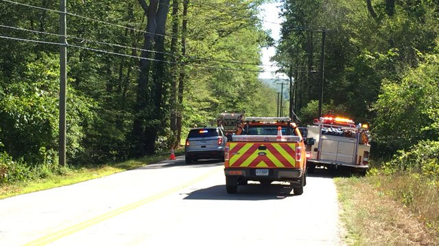 Serious crash closes Route 82 in East Haddam. (WFSB)
