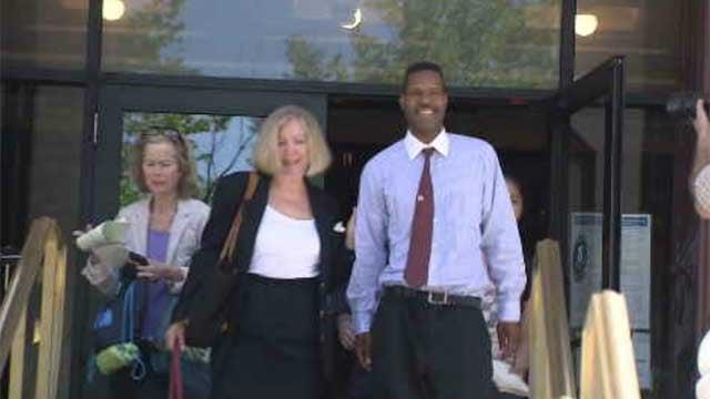 Corey Menafee leaving court on Tuesday. (WFSB)