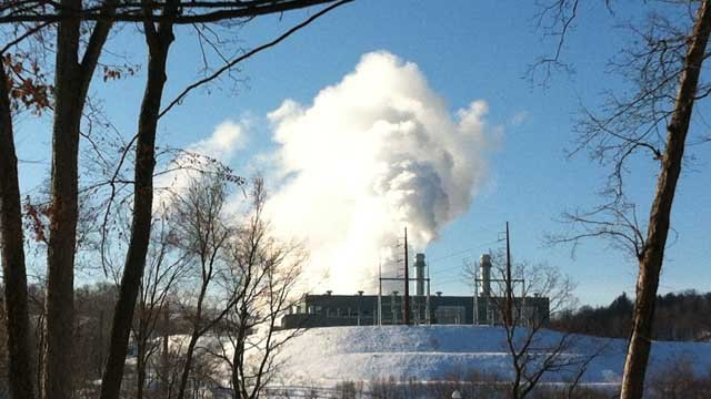 The following photo is a file photo of Kleen Energy Plant Fire
