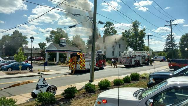 Crews respond to house fire in Southington (Survival Group)