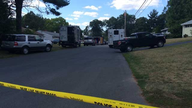 Crews respond to remove potentially hazardous material at home in West Hartford. (WFSB)