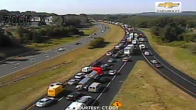 Interstate 84 was closed for several hours after a serious car crash. (CT DOT)