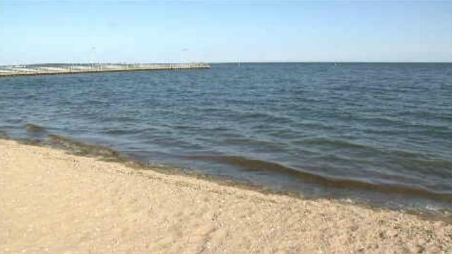 There is no swimming at a popular West Haven beach, after black algae and possible waste was found in the water. (WFSB)