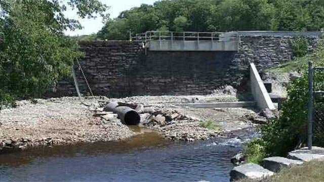 A dam project in Griswold is causing water problems for neighbors. (WFSB)