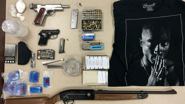 The following items were seized by police during the arrest of Felix Tosado. (Hartford Police Department)