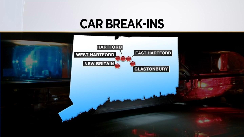 Police are investigating car burglaries in Connecticut. (WFSB)
