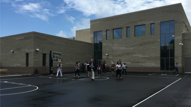 Members of the media were invited for a look inside the new Sandy Hook school. (WFSB)