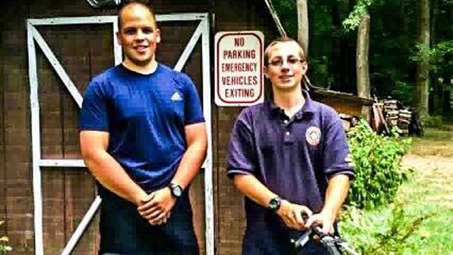 Officer Zachary Sherman donated his bicycle to 15-year-old Jonathan after the teen reported his stolen. (East Windsor police Facebook photo)