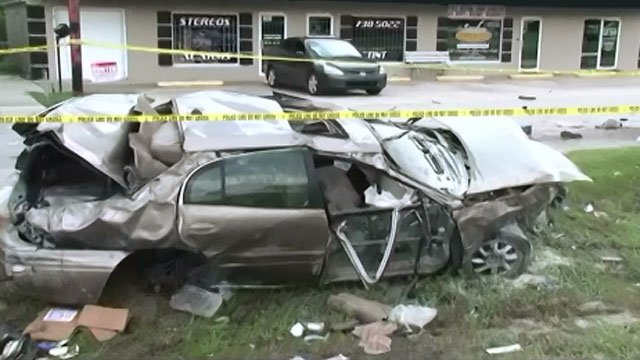 A frightening crash was caught on camera. (CNN Newsource)