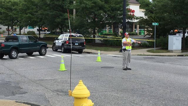 East Main Street between Wall Street and Brookside Avenue is closed due to police activity. (WFSB photo)