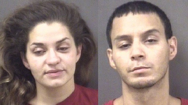 Meighan Plourde and Ritchie Aguilar. (Milford police photos)