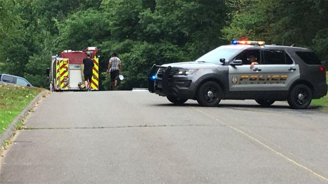 Man suffered a leg injury atTalcott Mountain State Park inSimsbury on Monday afternoon. (WFSB)
