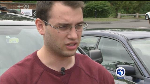 UHart student Nicholas Daddo is credited with saving a man from jumping off the Tappan Zee Bridge in New York. (WFSB)