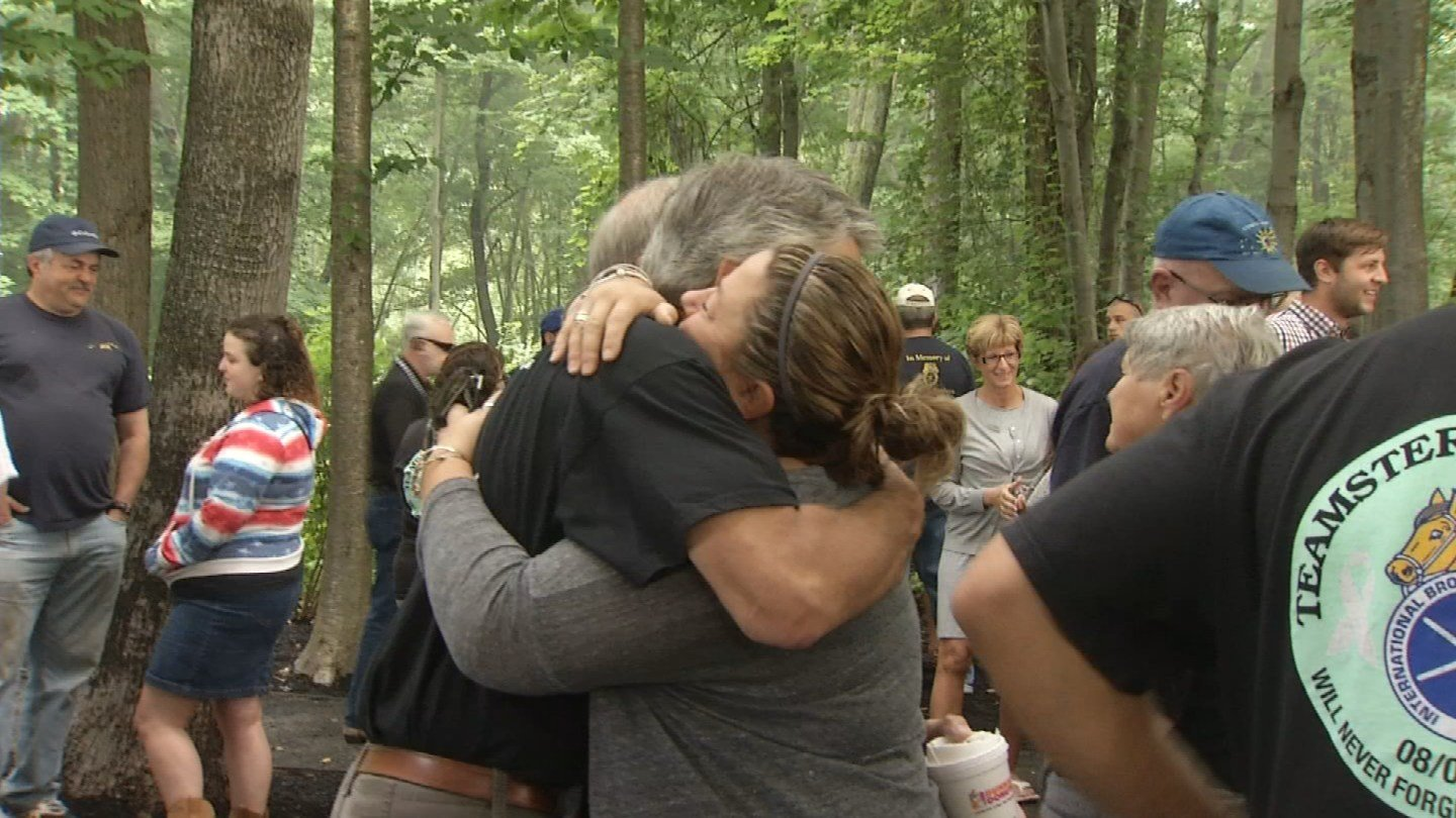 A memorial ceremony was held Wednesday at Hartford Distributors in Manchester. (WFSB photo)