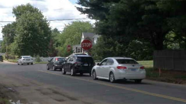 Southington residents are concerned about speeding on Mulberry Street. (WFSB)