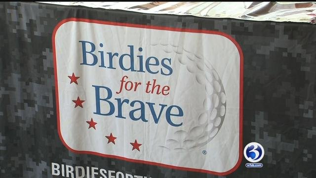 Military members enjoyed the Birdies for the Brave promotion at the Travelers Championship. (WFSB)