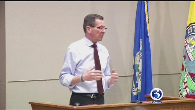 Gov. Dannel Malloy  urged shoreline residents to monitor and prepare for the storm over the coming days.  (WFSB file photo)