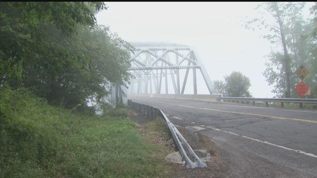 State police said they're searching an area near this bridge on Route 133 for a suspect. (WFSB photo)