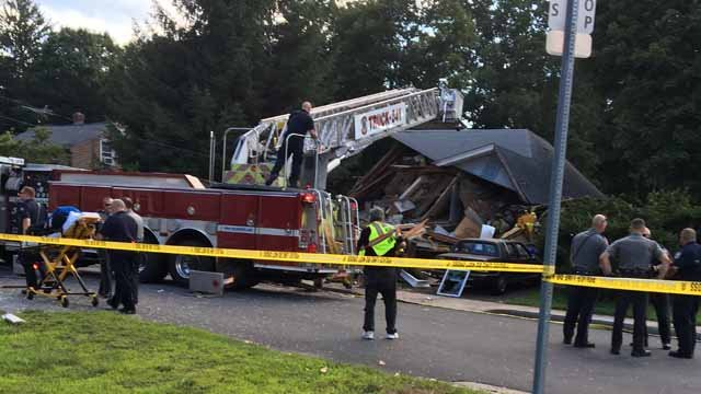 Multiple people were injured in a house explosion and collapse in Vernon. (WFSB)
