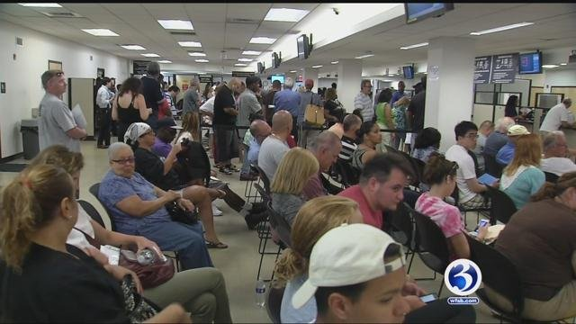 The Department of Motor Vehicles is still pushing to reduce wait times. (WFSB file photo)