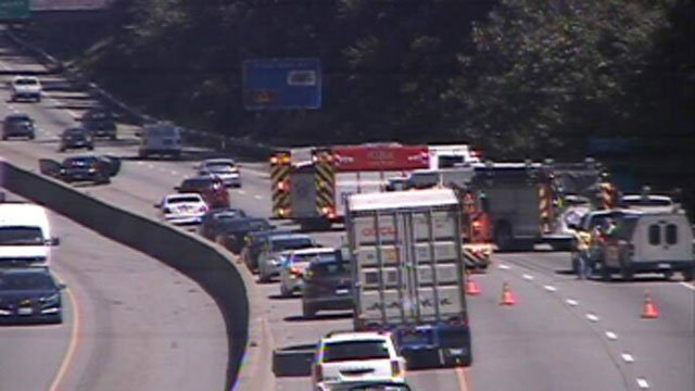 A Naugatuck resident died in motorcycle crash on I-95 in Clinton. (DOT photo)