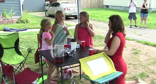 Three young girls have stepped up to help those in need. (WFSB)