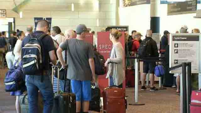 Delta travelers were impacted by a computer system glitch on Monday morning at Bradley International Airport. (WFSB)