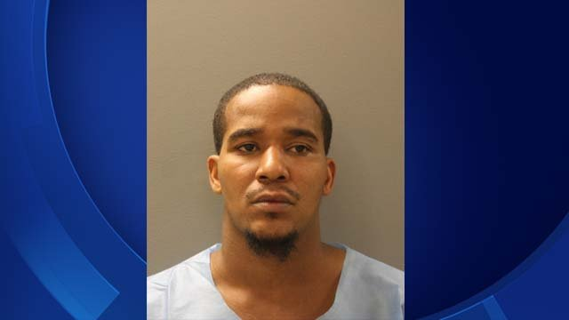 Reggie Ulmer was arrested after police said he hit the mother of his child'sstepfather multiple times and then punch thestepfather's wifein the face after forcibly entering into a Hamden home. (Hamden Police Department)