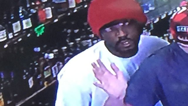 New Haven police released this photo of the suspect in an armed robbery.