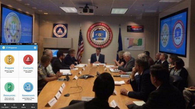 Tropical storm /hurricane season was discussed during a meeting with the governor on Tuesday. (WFSB/Governor's Office)