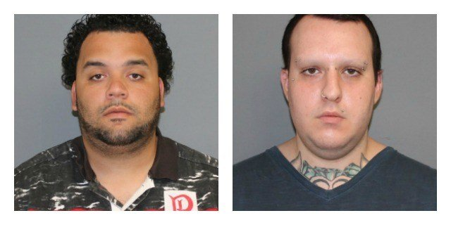 Joshua Sanchez and Justin Geffert were arrested them for possession of Heroin. (Shelton Police Department)