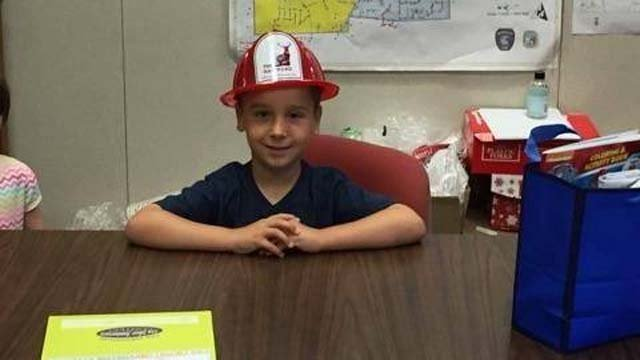 5-year-old Matthew was able to alert his mom to smoke coming from his neighbors home (Newington Police)