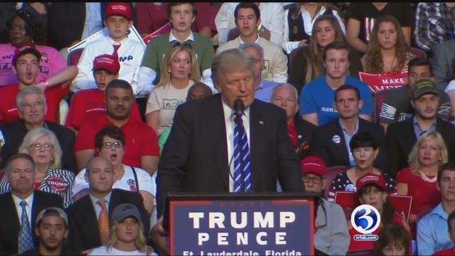 Students at Connecticut colleges reacted to Donald Trump's comments. (WFSB file photo)