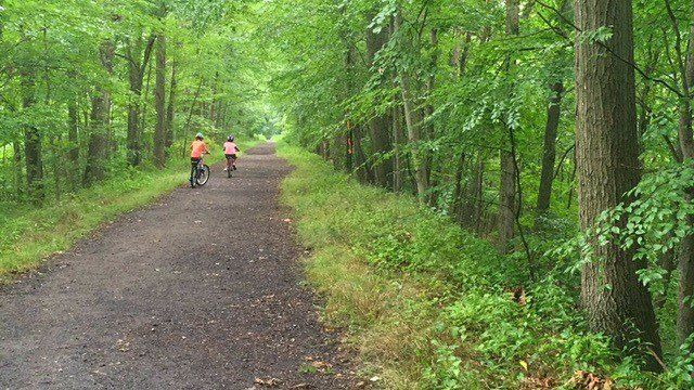 Biking the Larkin State Park Trail