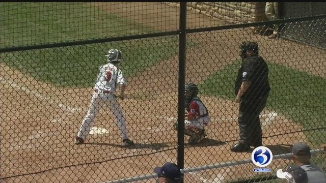 Little Leaguers brave the heat in Bristol during the regionals. (WFSB)