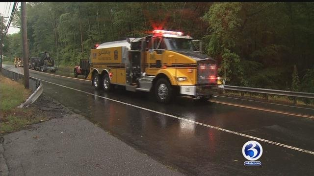 One Haddam resident thanked the fire department for saving her life. (WFSB)