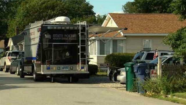 Police were seen at the home in Old Lyme for most of the day on Sunday. (WFSB)