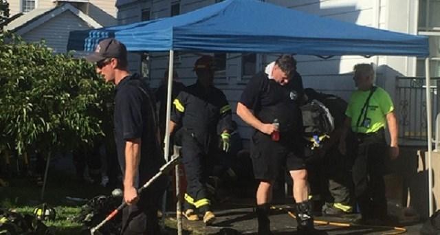 Crews respond to a fire on Beacon Street (WFSB)