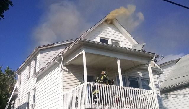 Crews respond to a fire on Beacon Street (Hamden Fire Dept.)